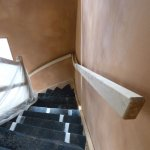 drying clay around staircase